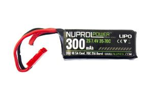 BATTERIE LIPO 7.4V 300 MAH 35C 1 STICK SPECIAL HPA NUPROL
