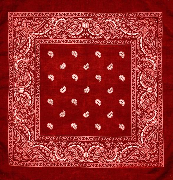 Bandana 100 Coton Rouge Avec Motif Fleuri 55 X 55 Cm Airsoft