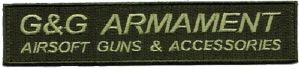 ECUSSON OU PATCH RECTANGULAIRE G&G ARMAMENT KAKI SCRATCH