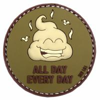 PATCH / ECUSSON 3D PVC SCRATCH ALL DAY EVERY DAY TAN VERT ET MARRON