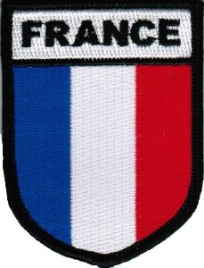ECUSSON OU PATCH DRAPEAU FRANCE BRODE THERMO COLLANT