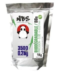 SACHET DE 3500 BILLES BLANCHES BIODEGRADABLES 0.28G NBS