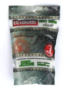 BILLES BIO DEGRADABLES KALASHNIKOV 3200 X 0.25 G BLANCHES EN SACHET
