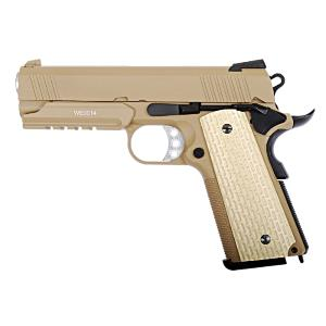 1911 SOCOM 4.3 TAN WE GAZ BLOW BACK FULL METAL SEMI AUTO HOP UP 0.9 JOULE