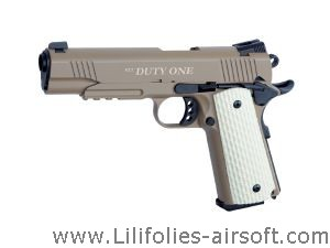 STI DUTY ONE TAN KWA GAZ BLOWBACK HOP UP METAL 1 JOULE