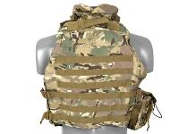 "GILET VESTE TACTIQUE TYPE "" OTV "" (OUTER TACTICAL VEST) MODULABLE AVEC COL MULTICAMO"