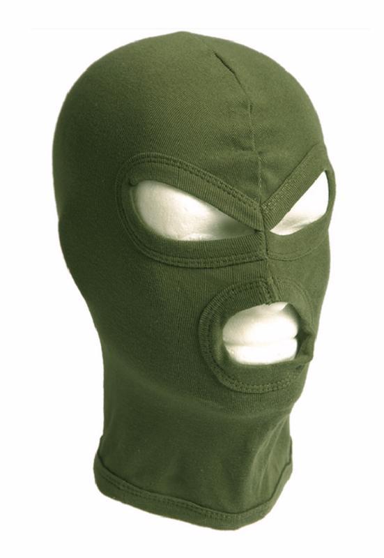 cagoule balaclava 3 trous legere fine 100 coton vert miltec 12114101 protection visage airsoft. Black Bedroom Furniture Sets. Home Design Ideas