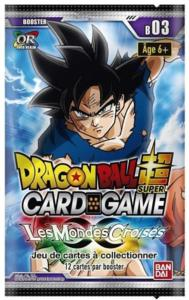 DRAGON BALL SUPER CARD GAME - BOOSTER DE 12 CARTES LES MONDES CROISES - B03
