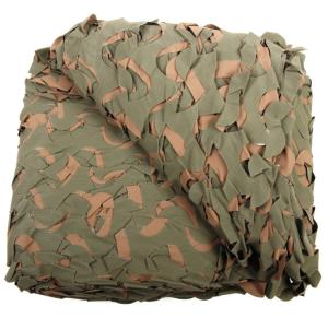 FILET DE CAMOUFLAGE IMPERMEABLE ET REVERSIBLE VERT  / MARRON CAMO 6M X 2.4M CAMOSYSTEMS