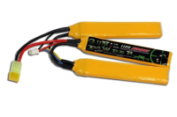BATTERIE LIPO 11.1V 1100 MAH 3 STICKS GUN POWDER