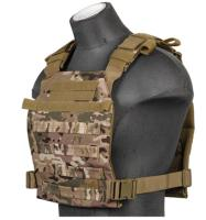 GILET TACTIQUE LEGER PLATE CARRIER 1000D CAMOUFLAGE LANCER TACTICAL