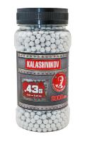 BILLES KALASHNIKOV 2000 X 0.43 G BLANCHES EN POT HAUTE PERFORMANCE