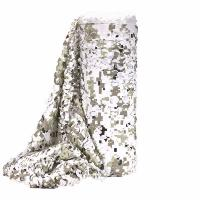 FILET DE CAMOUFLAGE SNOW DIGITAL BULK AVEC FACE BLANCHE A LA COUPE LARGEUR 2.4M VENDU AU METRE