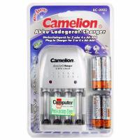 CHARGEUR PILES POUR AAA AA NI-MH NI-CD BC-902 + 4 ACCUS AA 2500 MAH CAMELION