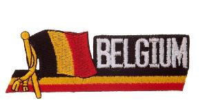 ECUSSON / PATCH BELGIUM AVEC LE DRAPEAU DE LA BELGIQUE THERMO COLLANT AIRSOFT