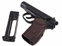 PISTOLET MAKAROV MP654K KWC CO2 FULL METAL NOIR ET MARRON 1.2 JOULE SEMI  AUTO