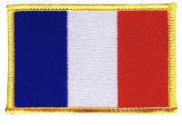 ECUSSON OU PATCH DRAPEAU FRANCAIS BRODE THERMO COLLANT
