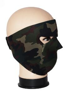 MASQUE DE PROTECTION NEOPRENE REVERSIBLE CAMO WOODLAND / NOIR