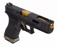 REPLIQUE PISTOLET G FORCE  FULL AUTOMATIQUE S18C GBB T1 NOIRE CANON OR WE