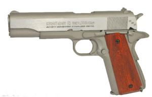 SA 1911 SEVENTIES STAINLESS SWISS ARMS CO2 BLOW BACK 4.5 MM METAL SEMI AUTO 1.6 JOULE