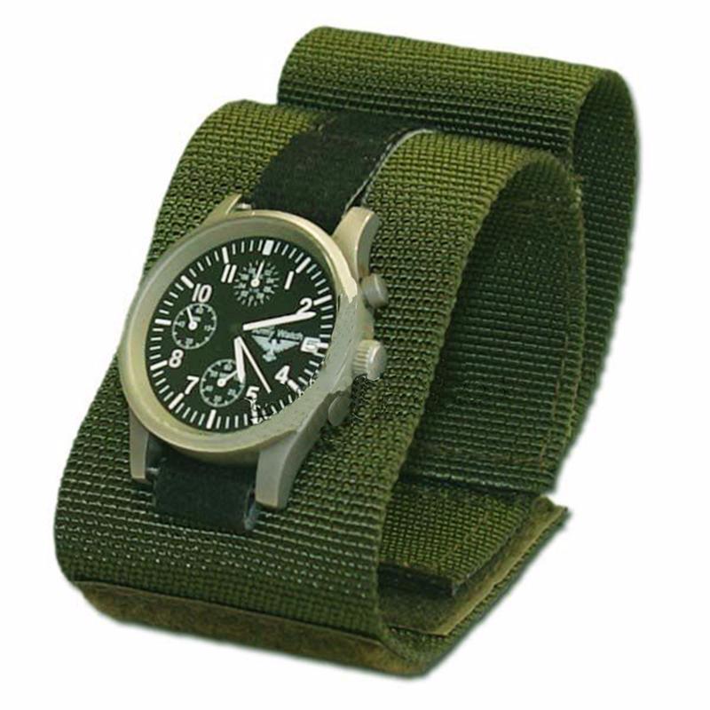 bracelet de montre commando en tissu vert olive avec scratch. Black Bedroom Furniture Sets. Home Design Ideas