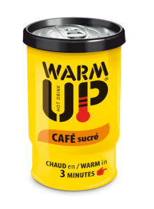 BOISSON EN CANETTE  AUTO CHAUFFANTE WARM UP 200 ML - CAFE SUCRE - LOT DE 6 CANETTES