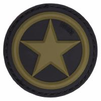 PATCH / ECUSSON 3D PVC VELCRO US ALLIED STAR NOIR ET VERT