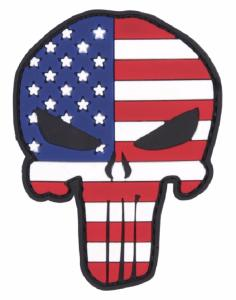 PATCH / ECUSSON 3D PVC SCRATCH TETE DE MORT THE PUNISHER USA