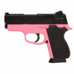 PISTOLET A BILLES CS45 CHIEFS SPECIAL BICOLORE ROSE ET NOIR SPRING SMITH & WESSON 0.25 JOULE