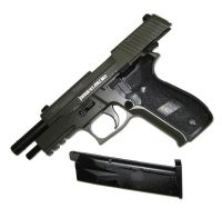 SIG SAUER P226 GAZ KAKI FULL METAL BLOW BACK SPIN UP KJ WORKS 0.8 JOULE