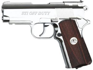 STI OFF DUTY CO2 CHROME ET IMITATION BOIS FULL METAL AVEC RAIL 1.2 JOULE