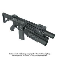 LANCE GRENADE NOIR KING ARMS M203 SHORTY GRENADE LAUNCHER avec RAIL