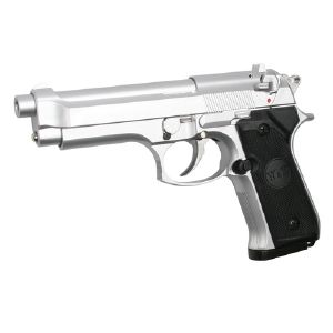 M92 CHROME GAZ ASG HEAVY WEIGHT LOURD 0.6 JOULE