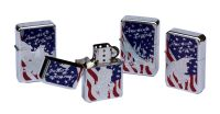 COLLECTION DES 4 BRIQUETS TEMPETE AMERICAN LEGEND TRISTAR US DESIGN AVEC DESSIN D'UN AIGLE