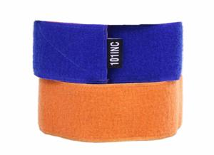 BRASSARD SCRATCH REVERSIBLE 2 COULEURS BLEU ET ORANGE