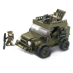 JEU DE CONSTRUCTION COMPATIBLE LEGO SLUBAN ARMY JEEP SUV COMMANDO M38-B0299 SOLDATS ARTICULES