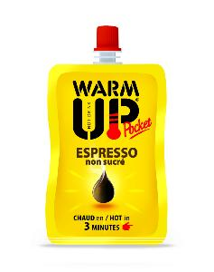 PACK DE 6 BOISSONS EN GOURDE AUTO CHAUFFANTES WARM UP POCKET 50 ML - EXPRESSO NON SUCRE