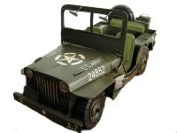 JEEP MINIATURE WILLYS US ARMY 2EME GUERRE MONDIALE EN METAL