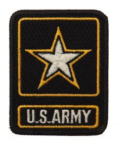 ECUSSON / PATCH BRODE U.S. ARMY STAR ETOILE THERMO COLLANT AIRSOFT