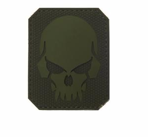 ECUSSON / PATCH 3D PVC SCRATCH PIRATE SKULL VERT AIRSOFT