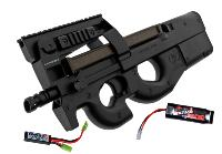 FN HERSTAL P90 TACTICAL AEG SEMI ET FULL AUTO HOP UP 1.4 JOULE + BATTERIE 1600MH + CHARGEUR + MOSFET