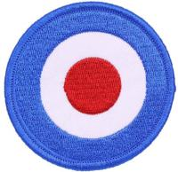 PATCH / ECUSSON TISSU THERMOCOLLANT ROND COCARDE LOGO ROYAL AIR FORCE