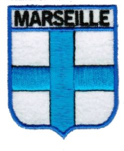 ECUSSON OU PATCH MARSEILLE BRODE THERMO COLLANT