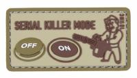 PATCH / ECUSSON 3D PVC VELCRO SERIAL KILLER MODE TAN