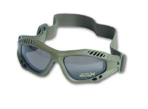 MASQUE / LUNETTE DE PROTECTION UV FUMEE COMMANDO AIR PRO VERT OLIVE