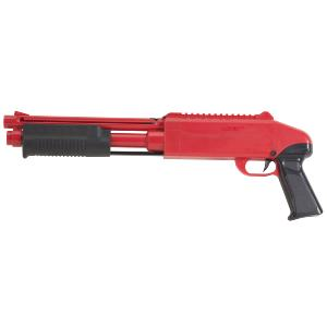 PACK MARQUEUR PAINTBALL Z200 FUSIL A POMPE ABS ROUGE + 500 BILLES CAL .50