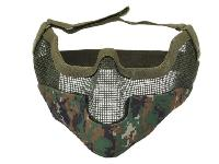 MASQUE DE PROTECTION DEMI GRILLAGE ACIER CAMO DIGITAL WOODLAND GRAND MODELE