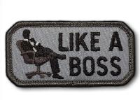 PATCH / ECUSSON TISSU VELCRO LIKE A BOSS SWAT MSM