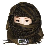 SHEMAGH / KEFFIEH / CHECHE / FOULARD AFGHAN TACTICAL OPS 100% COTON OLIVE 100 X 100 CM