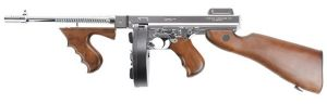 THOMPSON M1928 M 1928 CHICAGO AEG ARGENT ET BOIS VERITABLE 1.5 JOULE CHARG CAMEMBERT SS BATTERIE